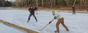 apprentices playing ice hockey
