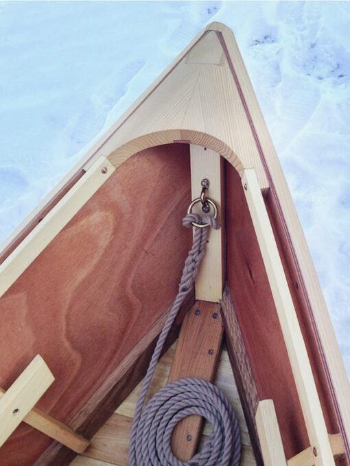 monhegan skiff - detail of bow