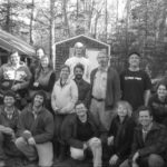 group shot out by the woodshed